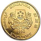 Singapore Gold Lion 1990 - 1 oz thumbnail