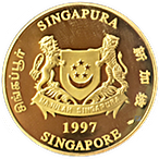 Singapore Mint Gold Ox 1997 - 1 oz thumbnail