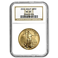 American Gold Eagle 2002 - Graded MS 69 by NGC - 1 oz