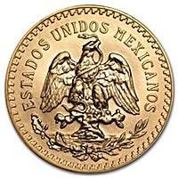 Mexico Gold 50 Pesos 1945 - Circulated in Good Condition - 1.2057 oz