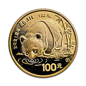 Chinese Gold Panda 1987 - 1 oz