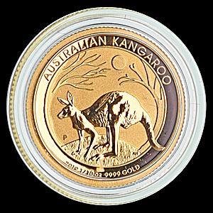 Australian Gold Kangaroo Nugget 2019 - 1/10 oz
