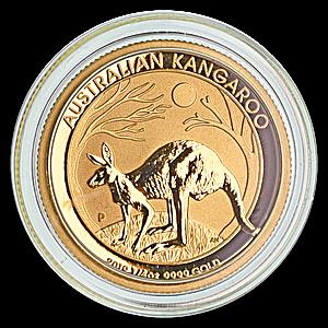 Australian Gold Kangaroo Nugget 2019 - 1/4 oz