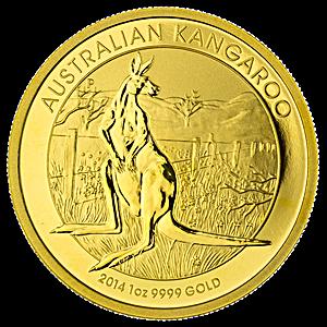Australian Gold Kangaroo Nugget 2014 1 Oz