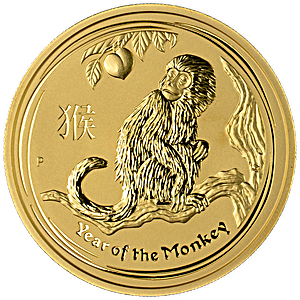 Australian Gold Lunar Series 2016 - Year of the Monkey - 1 oz