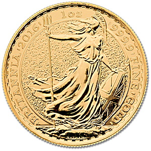 United Kingdom Gold Britannia 2016 - 1 oz