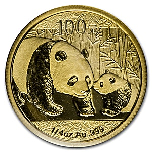 Chinese Gold Panda 2011 - 1/4 oz
