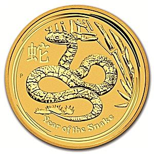Australian Gold Lunar Series 2013 - Year of the Snake - 10 oz
