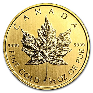 Canadian Gold Maple - Various years - 1/2 oz