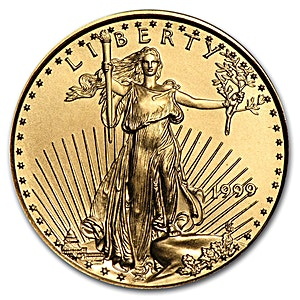 American Gold Eagle 1999 1 4 Oz Bullionstar Singapore