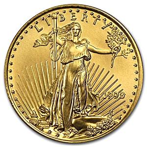 American Gold Eagle 1998 1 2 Oz Bullionstar Singapore