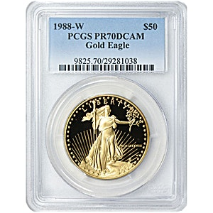 American Gold Eagle 1988 - Graded PR 69 by PCGS - Proof - 1 oz