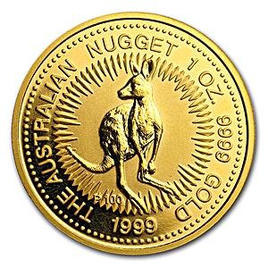 Australian Gold Kangaroo Nugget 1999 - 1 oz