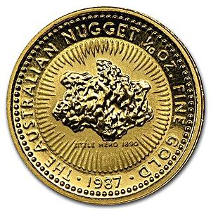 Australian Gold Kangaroo Nugget 1987 - 1/10 oz