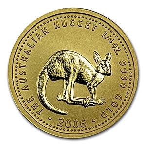 Australian Gold Kangaroo Nugget 2006 - 1/4 oz