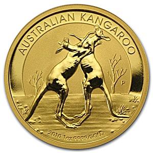 Australian Gold Kangaroo Nugget Various Years - 1 oz