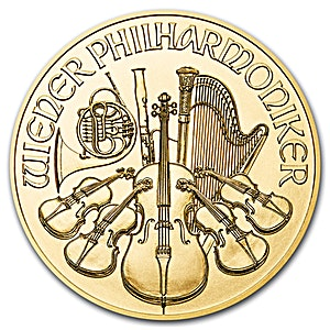 Austrian Gold Philharmonic Various Years - 1/4 oz