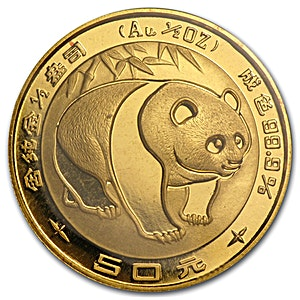 Chinese Gold Panda 1983 - 1/2 oz