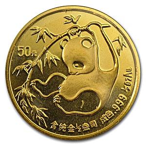 Chinese Gold Panda 1985 - 1/2 oz