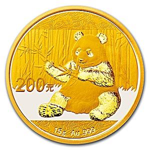 Chinese Gold Panda 2017 - 15 g