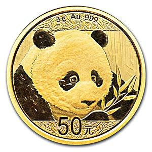 Chinese Gold Panda 2018 - 3 g