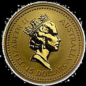 Australian Gold Kangaroo Nugget 1990 - 1/10 oz