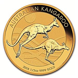 Australian Gold Kangaroo Nugget 2018 - 1/2 oz