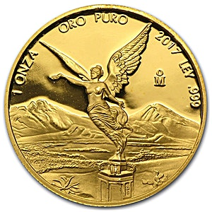 Mexican Gold Libertad 2017 - Proof - Circulated in Good Condition - 1 oz