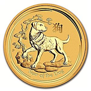 Australian Gold Lunar Series 2018 - Year of the Dog - 1 oz