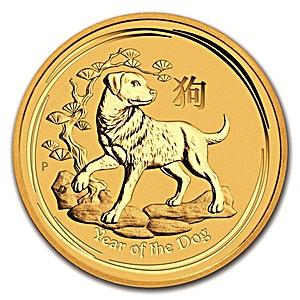 Australian Gold Lunar Series 2018 - Year of the Dog - 1/2 oz