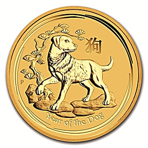 Australian Gold Lunar Series 2018 - Year of the Dog - 1/4 oz