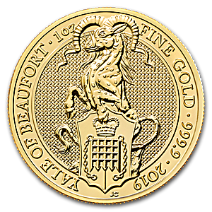 United Kingdom Gold Queen's Beast 2019 - The Yale - 1 oz