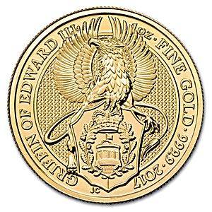 United Kingdom Gold Queen's Beast 2017 - Griffin - 1 oz