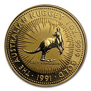 Australian Gold Kangaroo Nugget 1991 - 1 oz