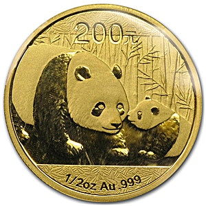 Chinese Gold Panda 2011 - 1/2 oz