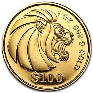 Singapore Gold Lion 1990 - 1 oz