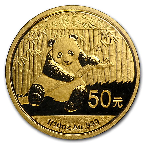 Chinese Gold Panda 2014 - 1/10 oz