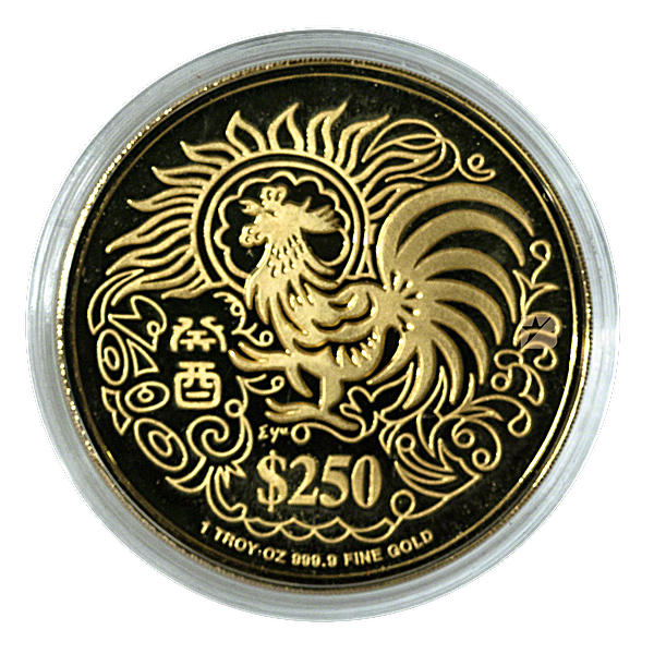 Singapore Mint Gold Rooster 1993 - 1 oz