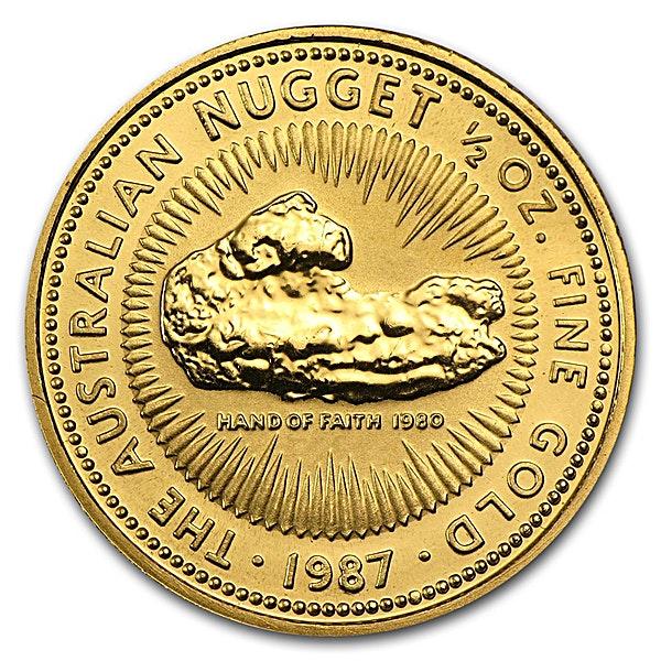 Australian Gold Kangaroo Nugget 1987 - 1/2 oz