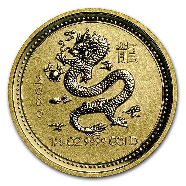 Australian Gold Lunar Series 2000 - Year of the Dragon - 1/4 oz