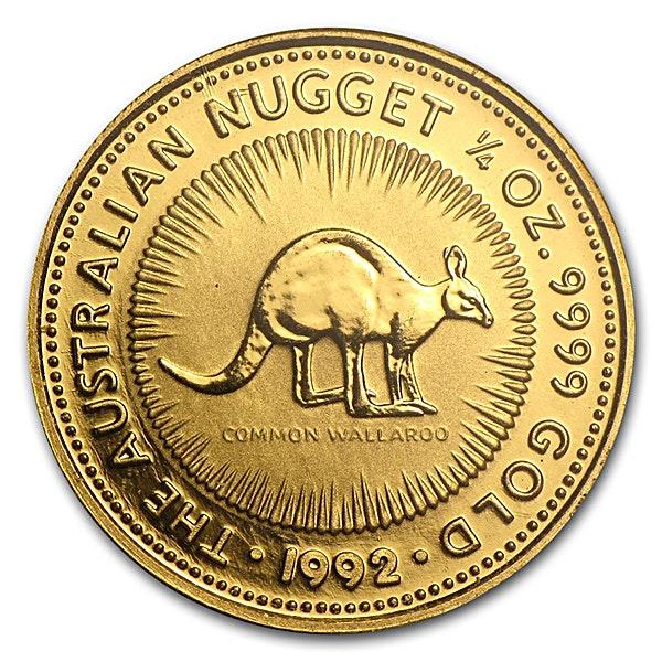 Australian Gold Kangaroo Nugget 1992 - 1/4 oz