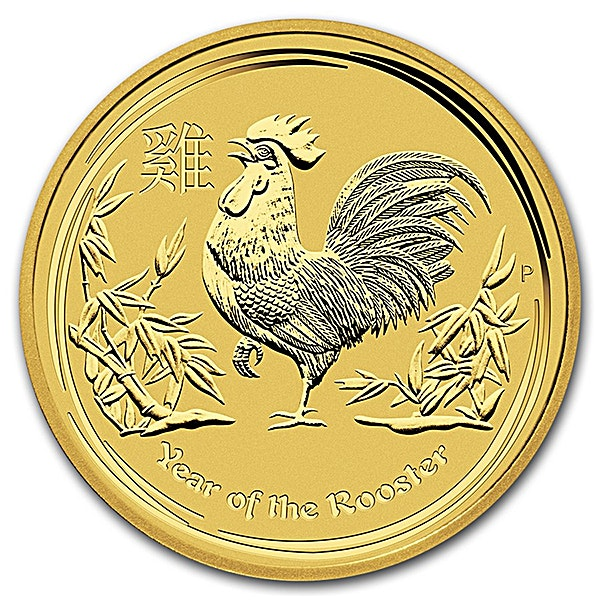 Australian Gold Lunar Series 2017 - Year of the Rooster - 1/10 oz