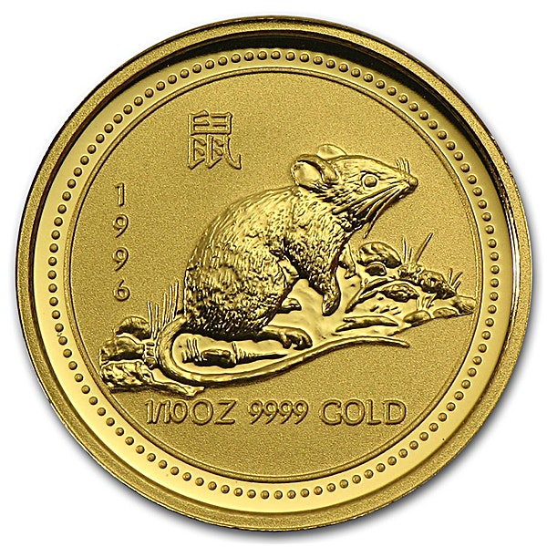 Australian Gold Lunar Series 1996 - Year of the Mouse - 1/10 oz