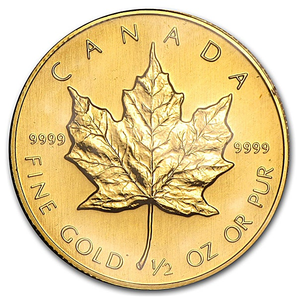 Canadian Gold Maple 1989 - 1/2 oz