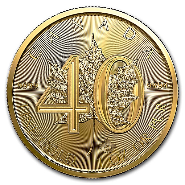 Canadian Gold Maple 2019 - 40th Anniversary Edition - 1 oz
