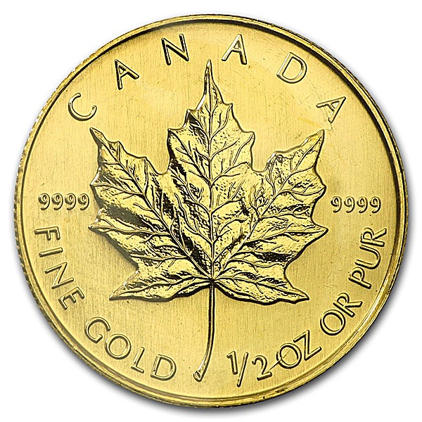 Canadian Gold Maple 2002 - 1/2 oz