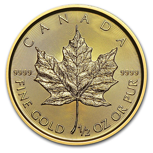 Canadian Gold Maple 2018 - 1/2 oz