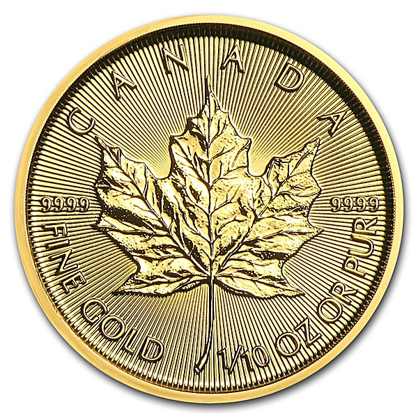 Canadian Gold Maple 2018 - 1/10 oz