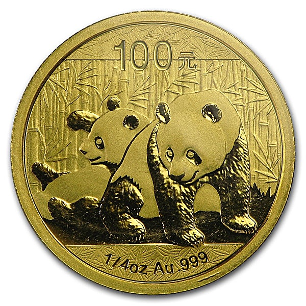 Chinese Gold Panda 2010 - 1/4 oz