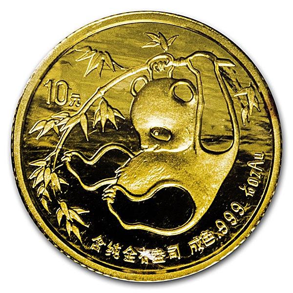 Chinese Gold Panda 1985 - 1/10 oz